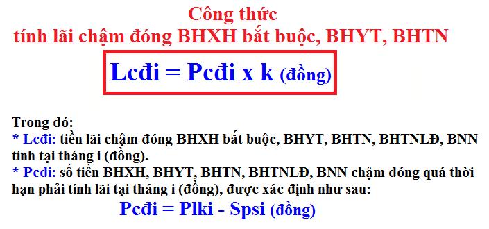 Cách tính lãi chậm đóng BHXH
